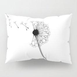 Dandelion Black and White Pillow Sham