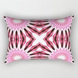 Pink Pinwheel Flowers Rectangular Pillow