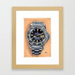 Rolex Submariner 1979, Painting Framed Art Print