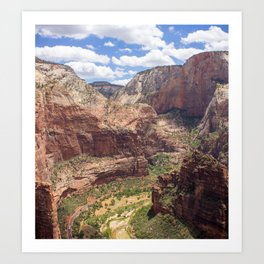 Zion Canyon from Angels Landing Art Print