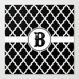 Black Monogram: Letter B Canvas Print