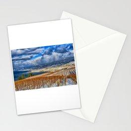 Okanagan Valley Winter Vineyard Stationery Cards
