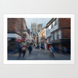York Minster Busy Town Art Print