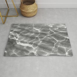 Crystalline Sea - Grey & White Rug
