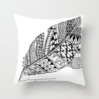 writer Throw Pillows featuring Writer Love by Vermont Greetings