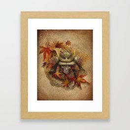 Late Autumn Samurai Framed Art Print