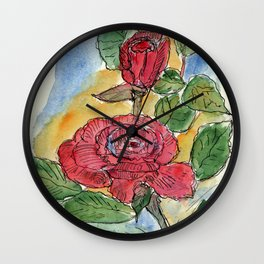 Rose (2) Wall Clock