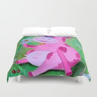 cow Duvet Covers featuring Cow by OLHADARCHUK