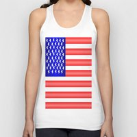 american flag Tank Tops featuring American Flag by Justbyjulie
