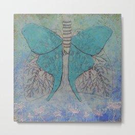 Luna Moth Lungs Metal Print