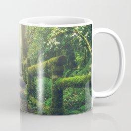 Green Mossy Forest Path Bridge Coffee Mug