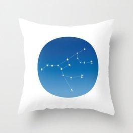 Ursa major constellation Throw Pillow