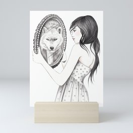 White Ghost Mini Art Print