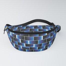 Blue set of tiles Fanny Pack