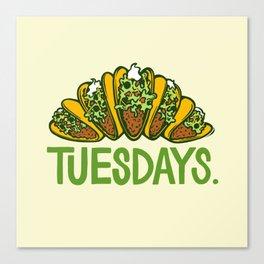 Taco Tuesdays Canvas Print