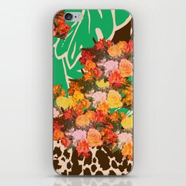 TROPICAL FLOWER LEOPARD SPOT ISLAND PATTERN iPhone Skin