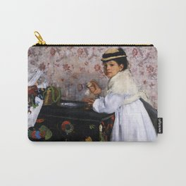 13,000px,600dpi-Edgar Degas - Portrait of Mlle, Hortense Valpincon - Digital Remastered Edition Carry-All Pouch