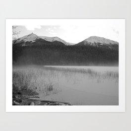 Cabin Lake Art Print