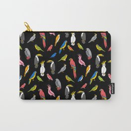 Tropical birds jungle animals parrots macaw toucan pattern Carry-All Pouch
