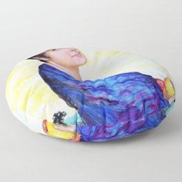 Franz von Stuck - Portrait of woman from stucco - Digital Remastered Edition Floor Pillow