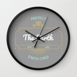 Protect the Earth (1) Wall Clock