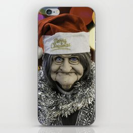 Christmas Grandma Bokeh iPhone Skin