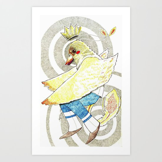 PrinceBird Art Print