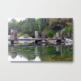 Wooden Dock Metal Print