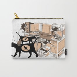 FERAL CAT COLONY IN THE OFFICE Carry-All Pouch