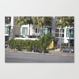 yellow bus Canvas Print