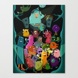 The mezcal monsters Canvas Print