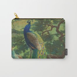 Peacock Chinoiserie Carry-All Pouch