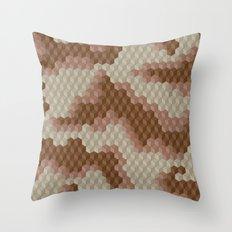 CUBOUFLAGE DESERT Throw Pillow