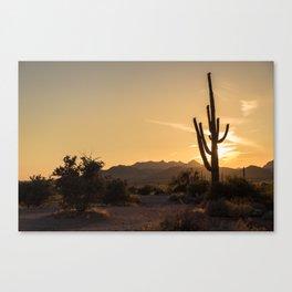 Saguaro Sunset Salute Canvas Print