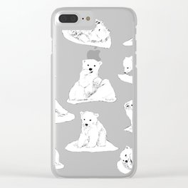 White bear cub Clear iPhone Case