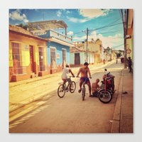 cuba Canvas Prints featuring Cuba by Anna Andretta