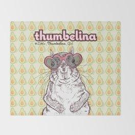 Little Thumbelina Girl: heart sunnies Throw Blanket