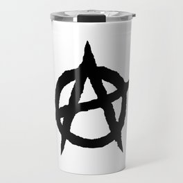 Anarchy symbol black Travel Mug