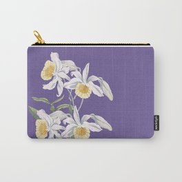 Floral fling in ultra violet Carry-All Pouch