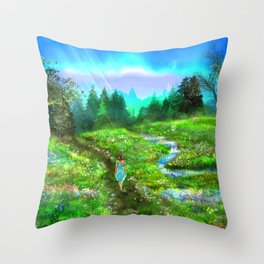 Meadow of Life Throw Pillow