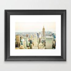 New York Tilt Shift Framed Art Print