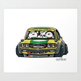 Crazy Car Art 0150 Art Print
