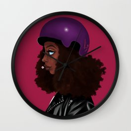 biker girl Wall Clock