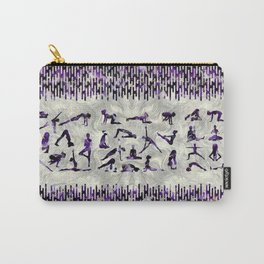 Amethyst Yoga Asanas  on mother of pearl Carry-All Pouch