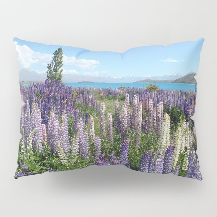 Colorful lupine towers Pillow Sham