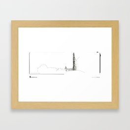 """Mário Linhares, """"Porto Tower"""" Framed Art Print"""