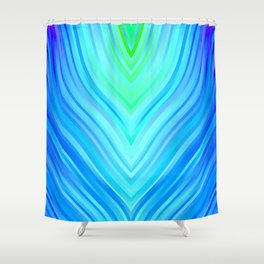 stripes wave pattern 3 s180i Shower Curtain