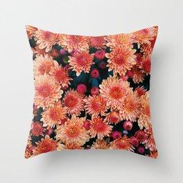 Fall floral Throw Pillow