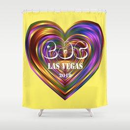Electric Daisy Carnival Heart Shower Curtain