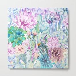pastel votanical garden Metal Print